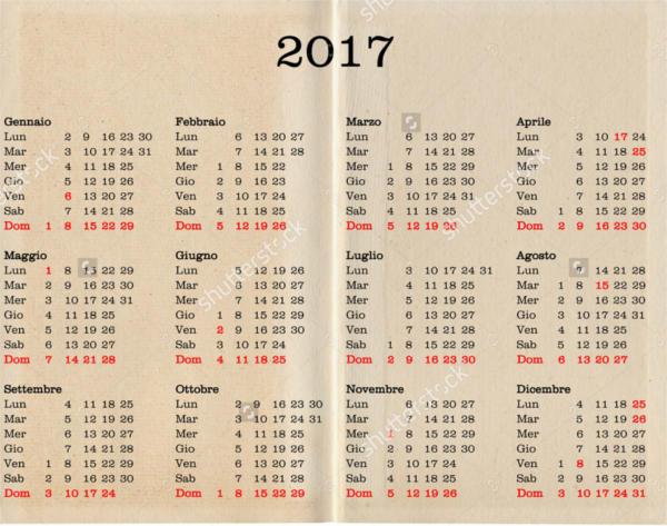 Italian Holiday Calendar