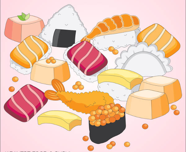Japanese Food & Sushi Clipart