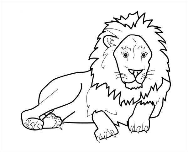 Jungle Animal Coloring Page