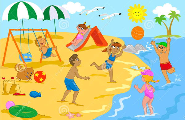 10 Beach Cliparts