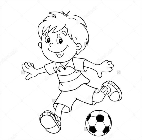 Kids Football Coloring Page