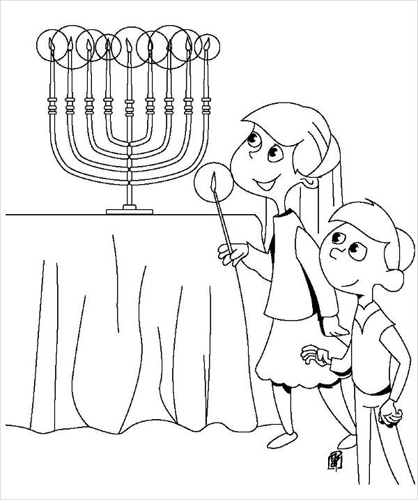 Kids Holiday Coloring Page