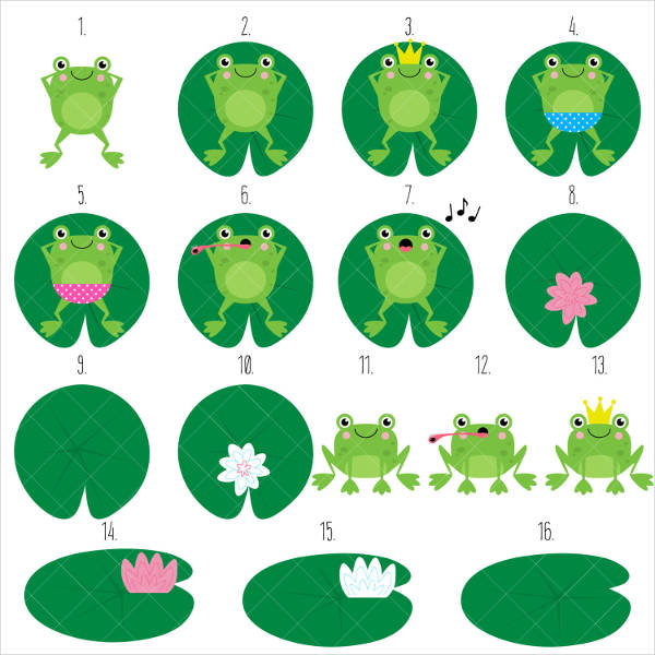 Lazy Frogs Clipart