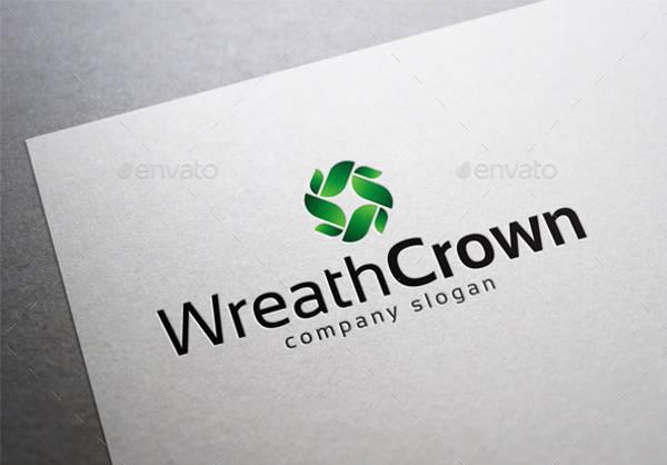 Leaf Wreath Crown Logo