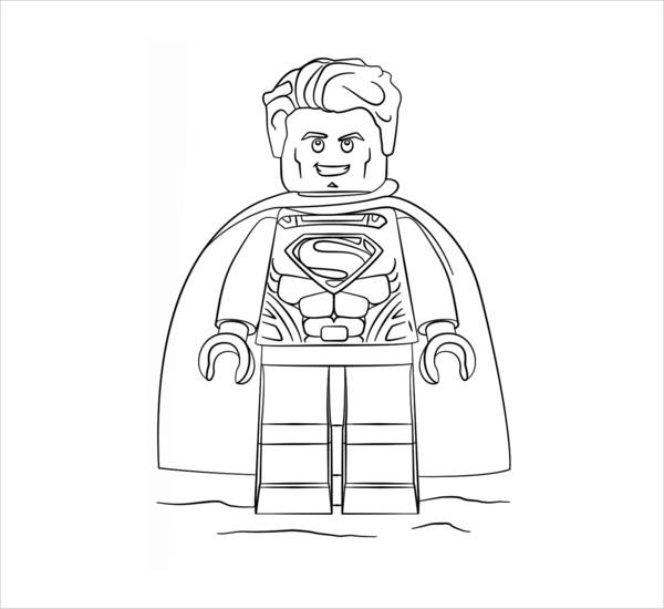 Lego Coloring Page for Boys