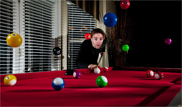 Levitation Billiards Photography