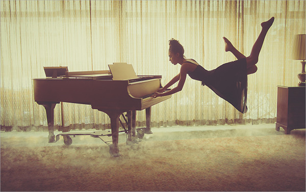 Levitation Pianist Photography