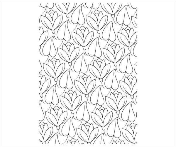 Lilly Pattern Coloring Page
