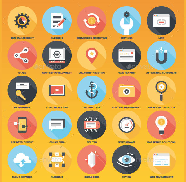 Flat Web Icon Designs