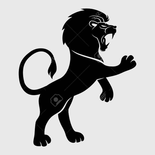 Lion Roar Silhouette