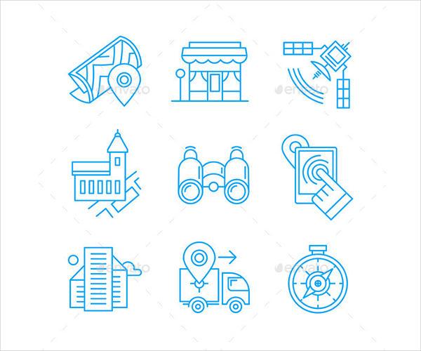 Location Line Icons