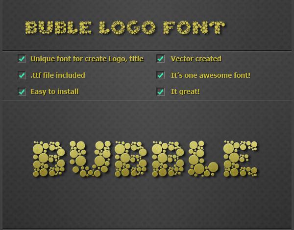 Logo Bubble Font