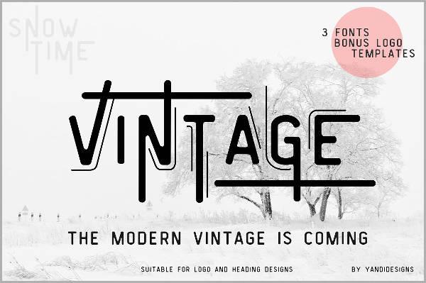 Logo Vintage Font