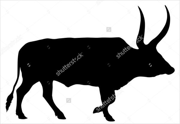 Longhorn Cow Silhouette