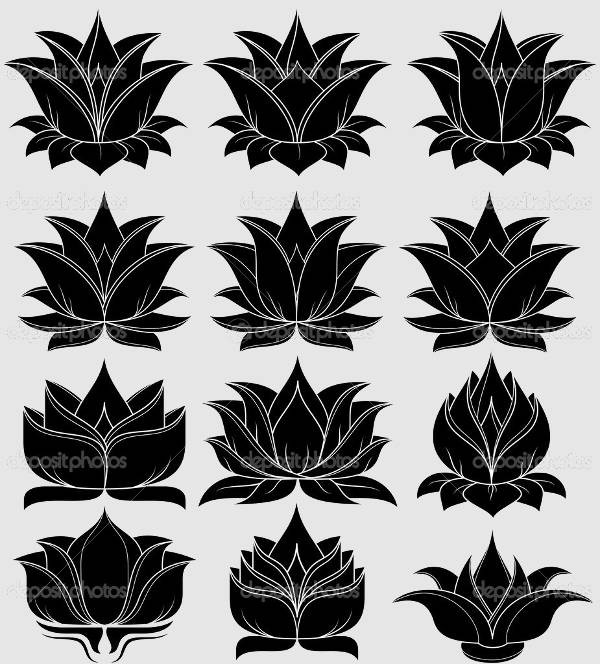 Lotus Flower Silhouettes