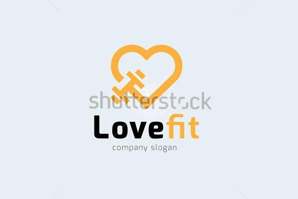 Love Fitness Logo Design