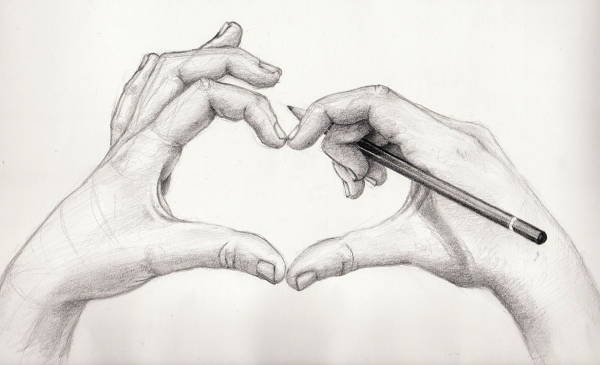 Love Pencil Drawing