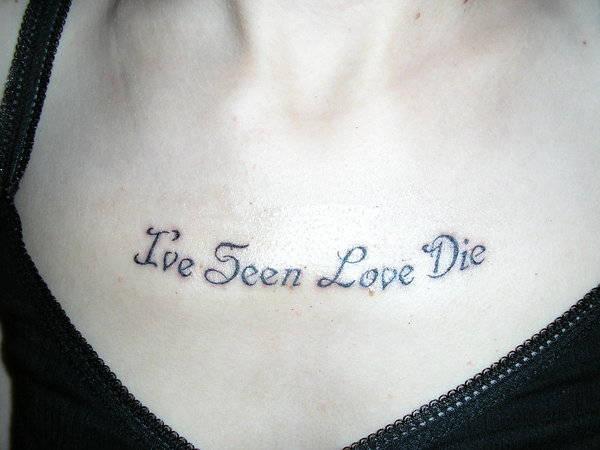 love quotes tattoo design