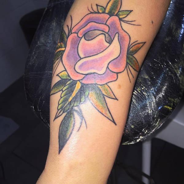 love rose tattoo design