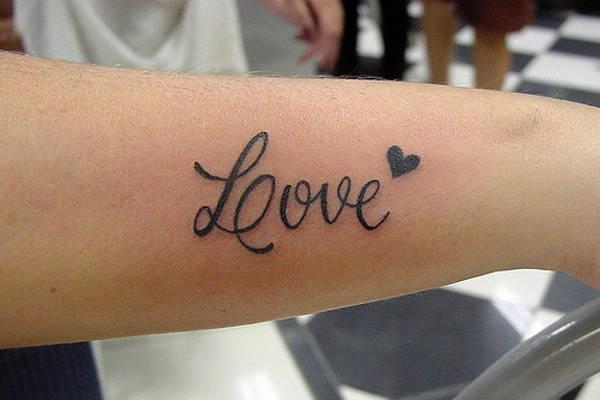 Love Side Wrist Tattoo Design
