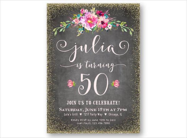 Lunch Birthday Invitation