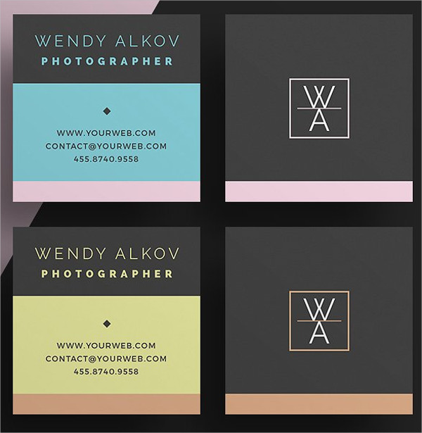 Luxury Square Business Card