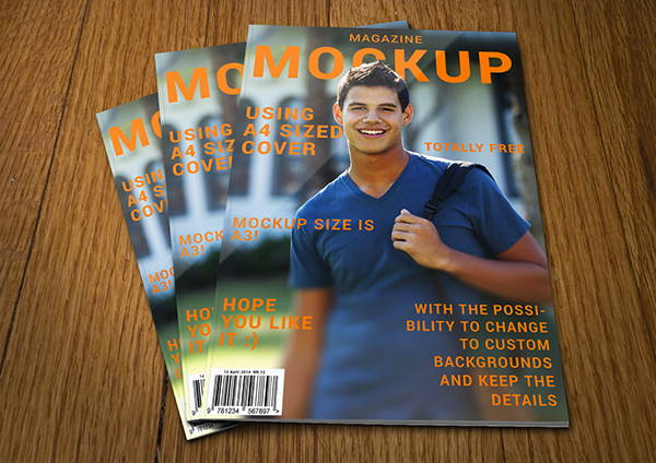 Magazine Cover Mockup Design