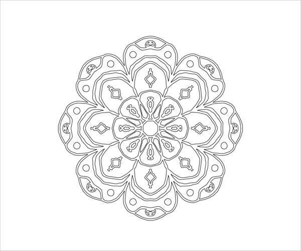 Mandala Abstract Coloring Page