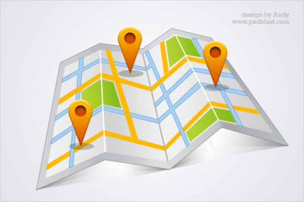 Map Psd Icons