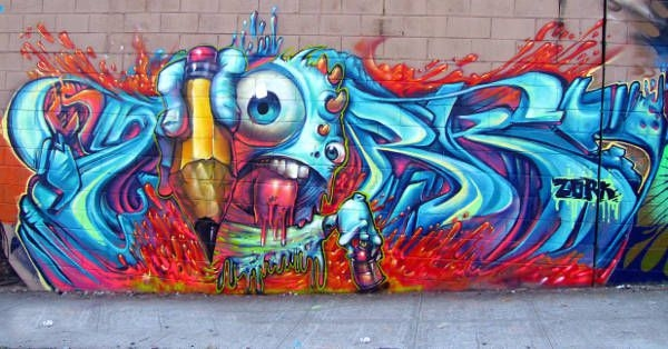 Melted Graffiti Art