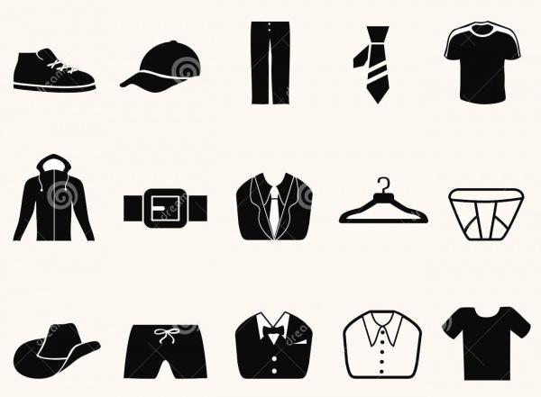 Mens Fashion Icon Set