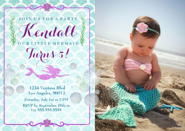 Free 7 Mermaid Party Invitation Designs In Vector Eps Ai