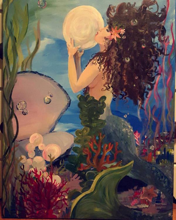 Mermaid Classical Painting