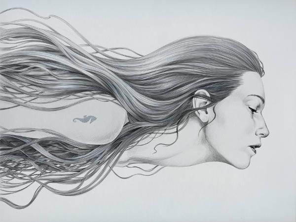 Mermaid Face Drawing