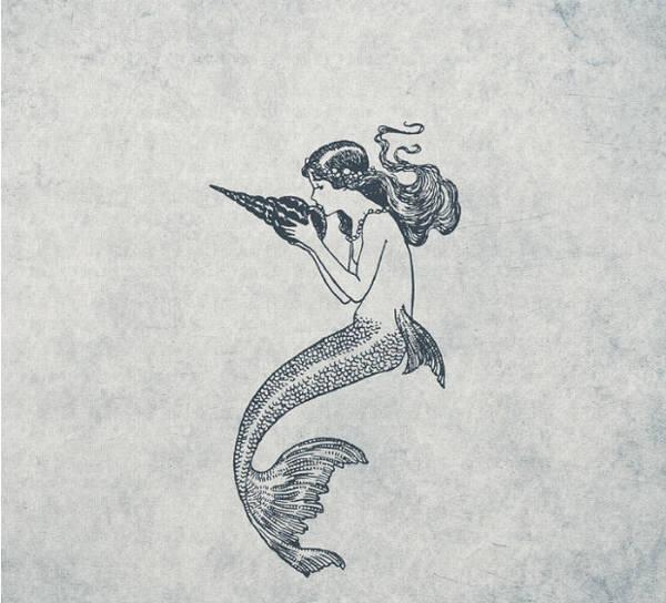 Mermaid Nautical Drawing