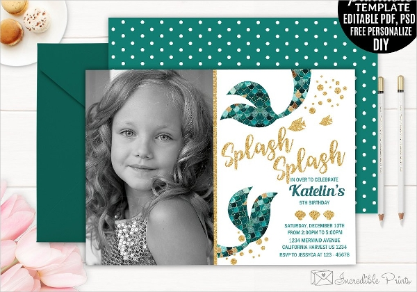 Mermaid Party Invitation Wording
