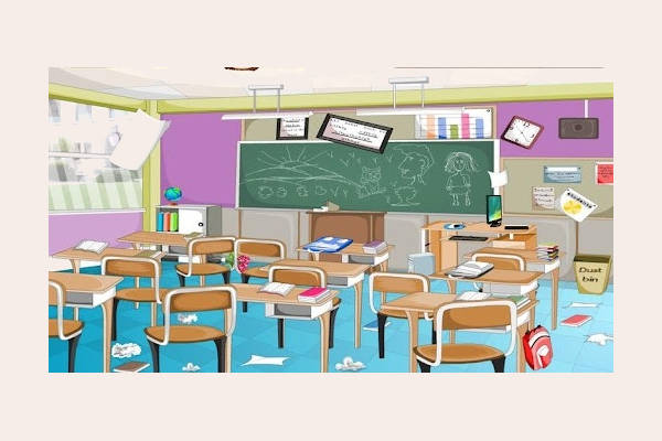 Messy Classroom Clipart