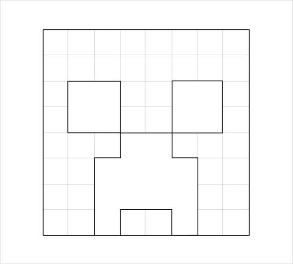 10 minecraft coloring pages jpg download for Minecraft creeper coloring page