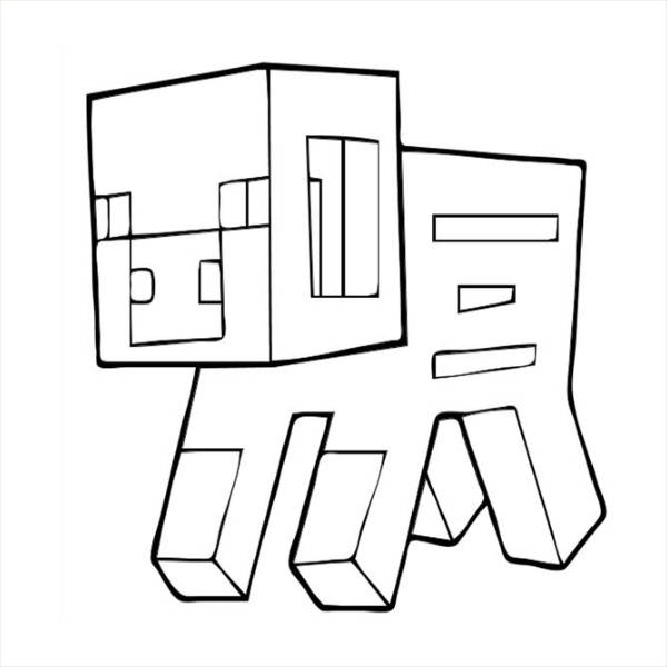 Minecraft Printable Coloring Page