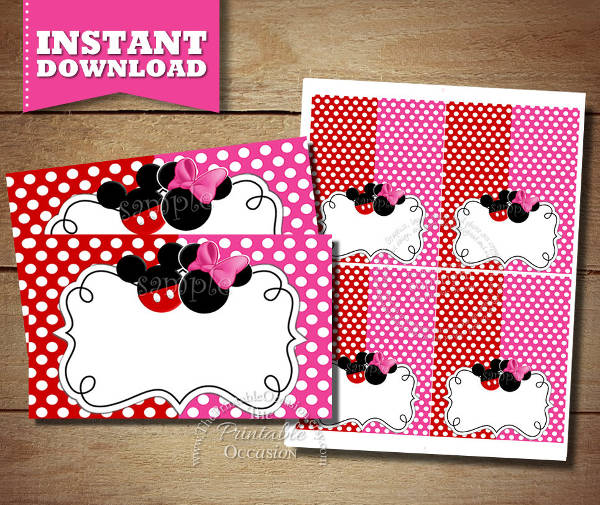 Minnie Mouse Blank Baby Shower Invitation