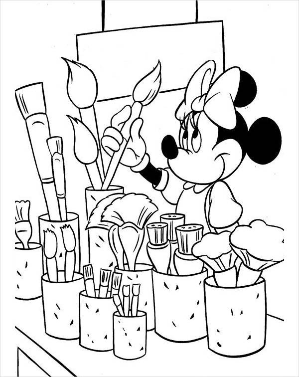Minnie Mouse Coloring Page for Kids