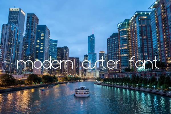 Modern Aster Font