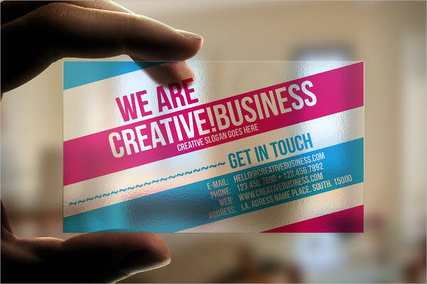 Modern Plastic Business Card Design