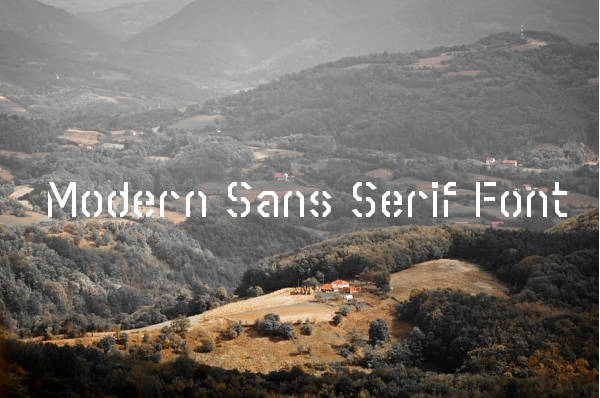 Modern Sans Serif Font