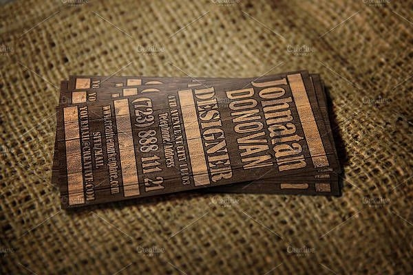 Modern Wooden Business Card