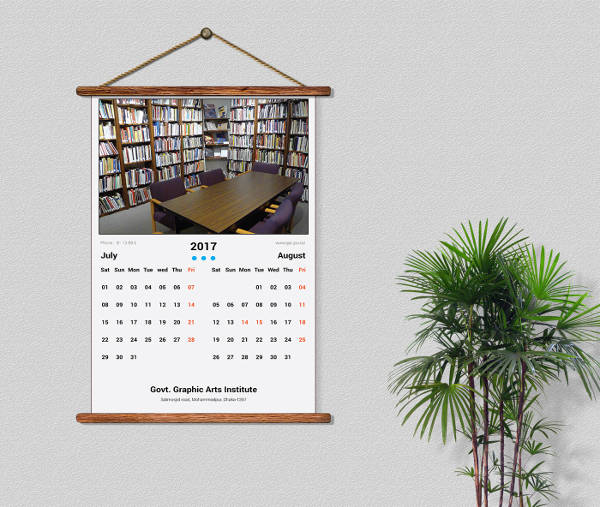Monthly Wall Calendar Design