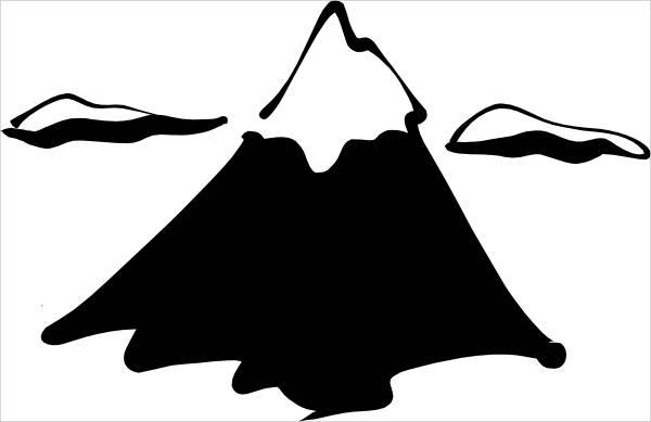 Mountain Clip Art Silhouette