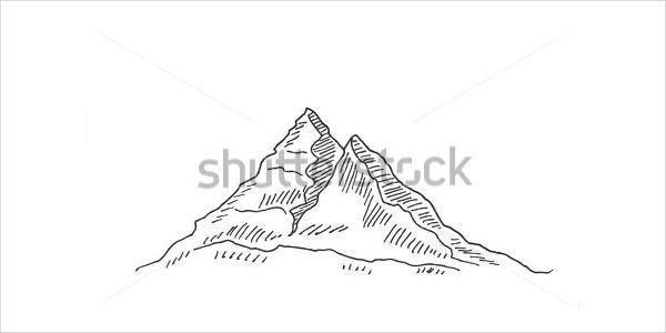 Mountain Peak Drawing