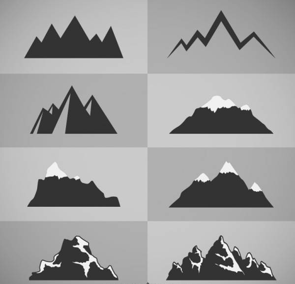 Mountain Vector Silhouette