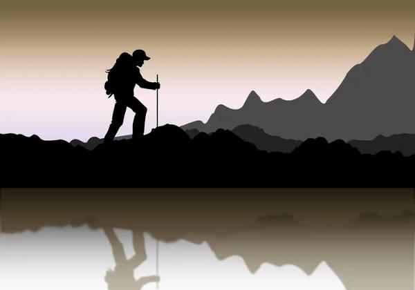 Mountaineer Landscape silhouette